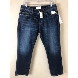 NEW Current/Elliott The Cropped Straight Jeans